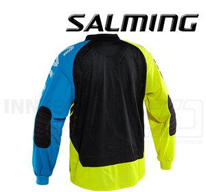 Salming Goalie Jersey Travis - Fluo Yellow / Light Blue