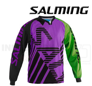 Salming Goalie Jersey Travis - Purple / Gecko Green