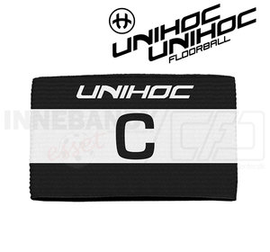 Unihoc Captain's band Skipper black / white