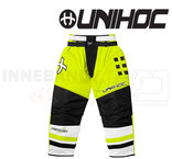 Unihoc Feather Goalie Pants Neon Yellow