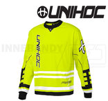 Unihoc Feather Goalie Jersey Neon Yellow