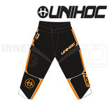 Unihoc Optima Goalie Pants Black / Neon Orange