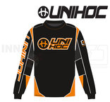 Unihoc Optima Goalie Jersey Black / Neon Orange