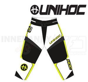 Unihoc Optima Goalie Pants White/ Neon Yellow