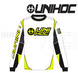 Unihoc Optima Goalie Jersey White/Neon Yellow