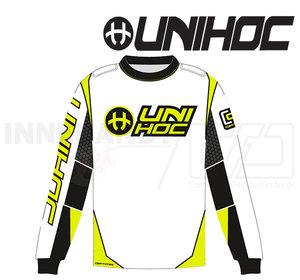 Unihoc Optima Goalie Jersey White/Neon Yellow