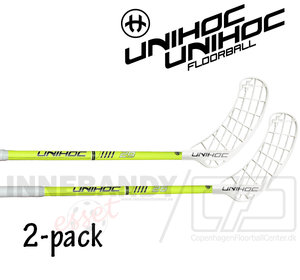 UNIHOC Player+ 29 neon yellow 2-pack