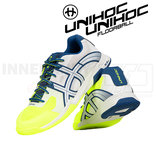 Unihoc U3 Elite Men white/blue/yellow
