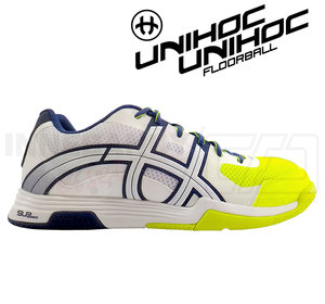 Unihoc U3 Elite Men white/blue/yellow