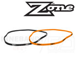 ZONE Hairband Slim 2-pack black/orange