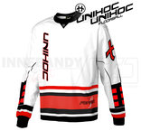 Unihoc Feather Goalie Jersey White/Red