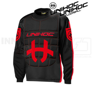 Unihoc Shield Goalie Jersey black/red