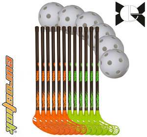 Tribal Team Set - 70 cm - 12 sticks, 6 balls