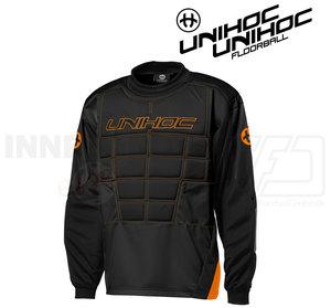 Unihoc Blocker Goalie Jersey Black/Orange