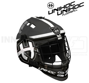 Unihoc Goalie Mask Shield Jr black / white