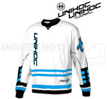Unihoc Feather Goalie Jersey White/Blue