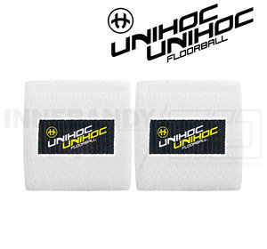 Unihoc Wristband Mid 2-pack Terrycloth white