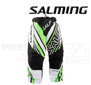 Salming Goalie Pants Phoenix - White / Gecko Green