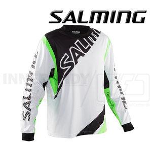 Salming Goalie Jersey Phoenix - White / Gecko Green