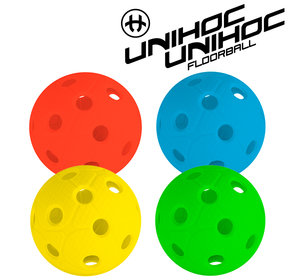 Unihoc Dynamic ball 4-pack yellow/red/blue/green