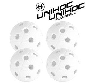 Unihoc Dynamic ball 4-pack white (Matchboll)