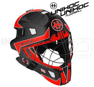Unihoc Mask Summit 66 Optima black/neon red