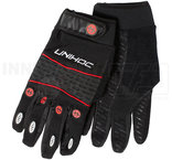 Unihoc Goalie Gloves Champion Black/Red