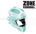 Zone Goalie Mask MONSTER SQUARE CAGE light turquoise / white