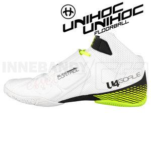 Unihoc U4 Goalie white / neon yellow