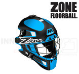 Zone Goalie Mask MONSTER 1.8 black/turquoise