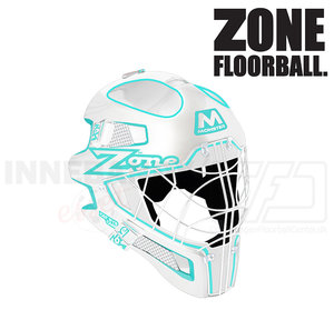 Zone Goalie Mask MONSTER CAT EYE CAGE white / light turquoise