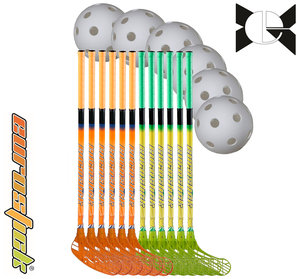 Force One Team Set - 85 cm - 12 sticks, 6 balls