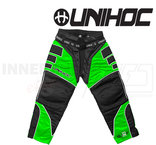 Unihoc Summit Goalie Pants Neon Green/Black