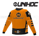 Unihoc Summit Goalie Jersey Neon Orange/Black