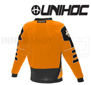 Unihoc Summit Goalie Jersey Neon Orange/Black