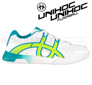 Unihoc U3 Elite Women white/turq