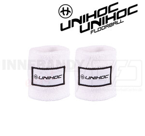 Unihoc Wristband Terry 2-pack white