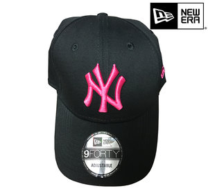 New Era New York Yankees 9forty MLB basic black pink