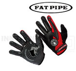 Fat Pipe Goalie Gloves - Silicone Palm - red