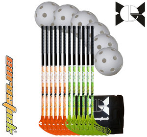 Splash Team Set - 95 cm - 12 sticks, 6 balls, 1 bag