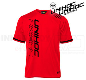 UNIHOC T-shirt Vendetta black/neon red
