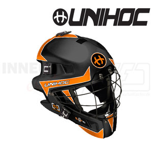 Unihoc Goalie Mask Unihoc Summit 44 Optima black/orange