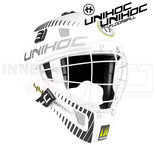 Unihoc Goalie Mask Inferno 44 white / black