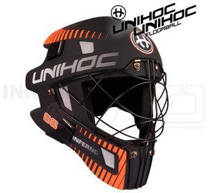 Unihoc Goalie Mask 66 Inferno black / neon orange