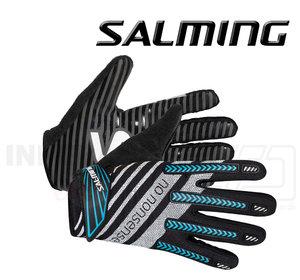Salming Goalie Gloves Travis ProGrip black / cyan
