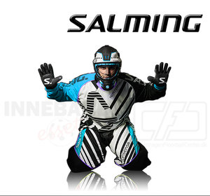 Salming Goalie Pants Travis - Cyan Blue