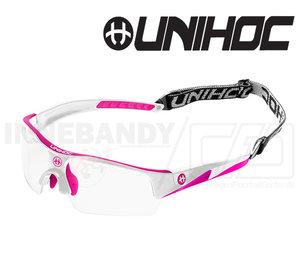 Unihoc Eyewear Victory Junior white / cerise